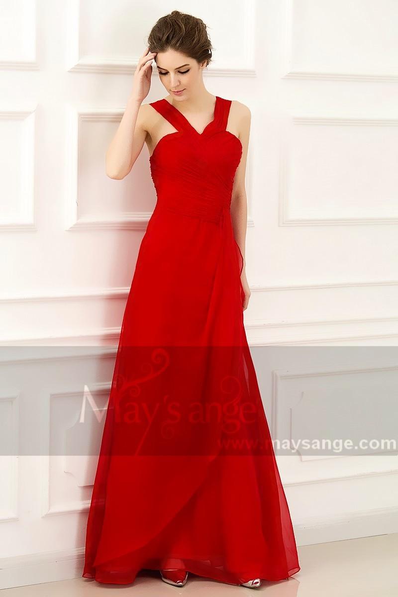 Robe rouge soirée pas cher