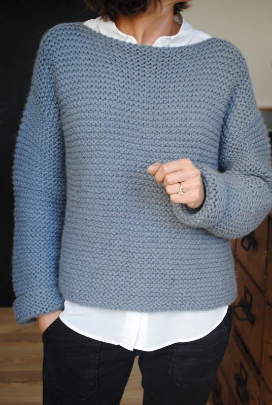 Tricoter un pull facile femme